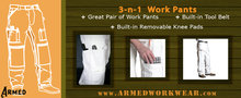 armed work wear painters pants